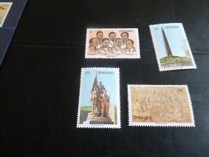 ZIMBABWE 1984 SG 643-646 HEROES DAY MNH