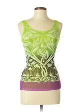 NWOT JEAN PAUL GAULTIER Soleil Green Purple Mesh Tank Tropical Floral Neon Small