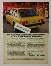 Werbeanzeige/advertisement A5: Ihr Typ - Ford Escort 02/1982 (200417159)