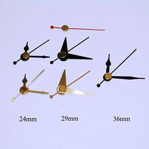 Replacement press fit clock hands for quartz clock movement (5.5mm/3.6mm shaft)