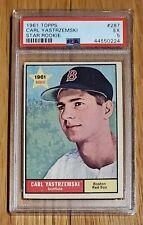 1961 Topps Carl Yastrzemski #287 Boston Red Sox Star Rookie HOF PSA 5 EX