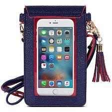 Samsung S7 Edge/S7/S6 Edge/S6 Case Bag Soft Leather Pouch Shoulder Strap New