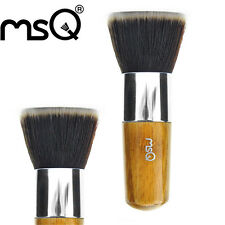 MSQ Foundation Powder Brush For Beauty Makeup Brush Flat Top Bamboo Handle Tools