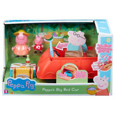 Peppa Pig Big Red Car Toy Vehicle with Peppa & Mummy Pig Figures - 0PP-06921