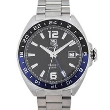 Tag Heuer formula 1 gmt Automatic calibre 7 41mm Black dial Blue detalles Señor...