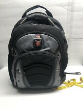 Swiss Gear Backpack Laptop Bag Lots of Pockets Black Gray Computer Carry-On