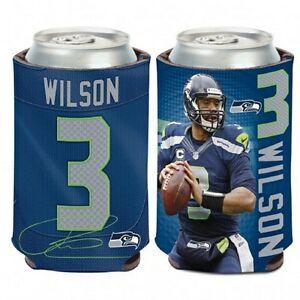 Seattle Seahawks Russell Wilson Can Cooler (NEW) Coozie Koozie Holder Drink