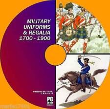 1000's RARE VINTAGE MILITARY UNIFORM REGALIA COLOUR PLATES C1700-1900 ERA PC-DVD