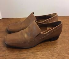 Rockport brown loafer pumps leather womens size 7 M great condition