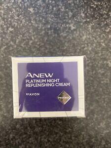 Avon Anew Aplatinum Night Replenishing Cream 50ml~