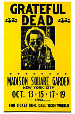 Grateful Dead Poster, Concert at Madison Square Garden, New York City