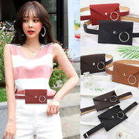 Excellent Women PU Leather Mini Belt Bag Waist Pack Key Phone Purse Wallet UK