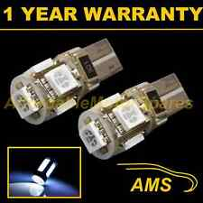 2x W5W T10 501 Can Bus Blanco Libre de Errores 5 Led Alto Nivel Bombillas Luz