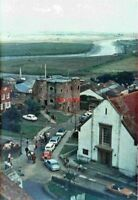 PHOTO  RYE SUSSEX LOOKING EAST FROM ST MARYS CHURCH TOWER IN 1980 OVER THE YPRES
