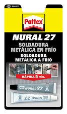 Soldadura Metalica Reparadora en Frio NURAL 27 Gris Pegamento para metal