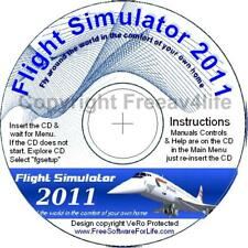 Flight Sim 2011 Simulator Software +UK Maps~Windows CD