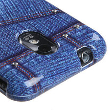 Blue Jeans w/Stud Snap-On Hard Case Cover Samsung Galaxy S2 4G Sprint Boost