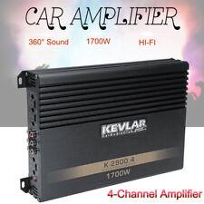 1700W 4 Channel A B Class 2 Ohm Car Audio Power Amplifier Stereo/Mono HI-FI 12V