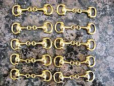 10 pcs-Gold Plated Equestrian Snaffle Horse Bit Charm, DIY, Wholesale Hi Quality