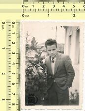 #015 Handsome Guy, Gentleman Portrait, Man vintage old original photo snapshot