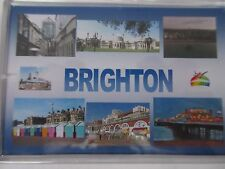 BRIGHTON - JUMBO FRIDGE MAGNET - Brighton Pier Beach Pavilion Lanes i360