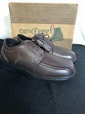 Orthofeet Mens Gramercy Orthotic Pain Relief Tie Shoes in Brown Size 10 W NEW