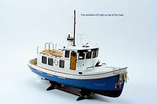 """Lord Nelson Victory Tugboat 28"""" - Handmade Wooden Boat Model - RC Convertible"""