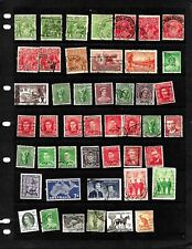 Australia : Nice 'Vintage' Stamp Collection Displayed On 3 Sheets. See Scans