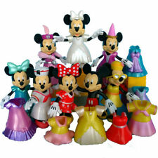 8pcs Disney Mickey Minnie Gift Figurines Doll Changed Dress Figures Decor Toy