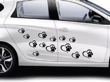 Pet Paw Print With Heart Dog Cat Love 15x Vinyl Decal Car Window Bumper Stickes