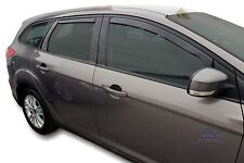 DFO15296 FORD FOCUS mk3  ESTATE  2011 -up wind deflectors 4pc TINTED HEKO