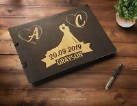 Wedding Guest Book Alternative Personalized Bride Groom Newly Wed Album IP001