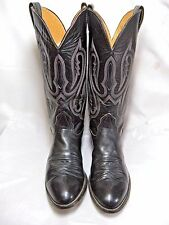 Nocona  Mens Cowboy  Boots       Size  8.5 D   Black leather      #14 HS