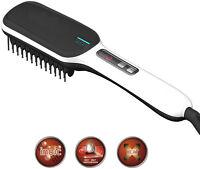 Hair Straightening Electric Heated Brush Tourmaline Ceramic Ionic frizz-control