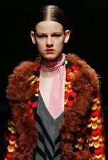 PRADA FALL 2014 RUNWAY Pink Silk Skinny SCARF ~NWT~