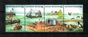 BELGIUM Scott's 1283a-d ( 4v ) The Sea F/VF Used ( 1988 )