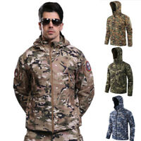Men's Outdoor Waterproof Tactical Jacket Fleece Hoodie Coat Fishing Camping Top
