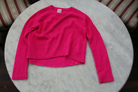 🦴 SIZE 10 SEED TEEN FUCHSIA PINK LONG SLEEVE COTTON KNIT SWEATER JUMPER TOP