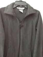 Columbia womens  S jacket gray solid polyester zippered front pockets