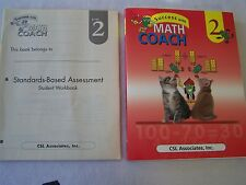 Success with Math Coach Grade 2 by CSL Associates Lot of 2 Student Workbooks