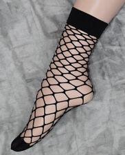 Black Diamond Fishnet Ankle Socks