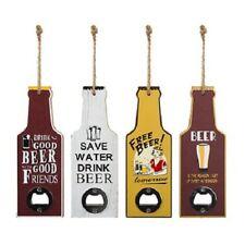Beer bottle openers set 4 opener vintage party accessory mens gift wooden xmas