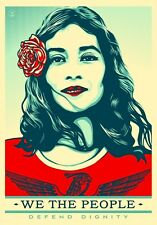"Shepard Fairey WE THE PEOPLE - DEFEND DIGNITY A4 GLOSSY PHOTO 11.75"" X 8.25"""