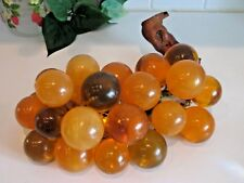 Vintage Lucite Acrylic GRAPES Mid-Century Amber Gold Yellow Centerpiece