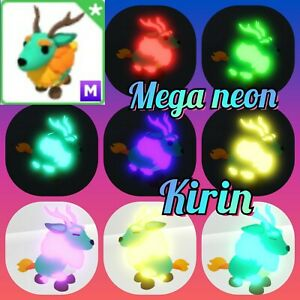 Mega neon Kirin - virtual mythic pet in the game Adopt me! in Roblox