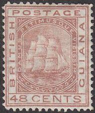 British Guiana 1876 QV Clipper Ship 48c Red-Brown Mint SG133 cat £150