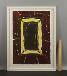 1995 Pencil Signed Vintage KJELL PAHR-IVERSEN Abstract Lithograph Print ICON
