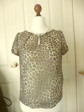 LOVE LABEL blouse top LEOPARD PRINT chiffon georgeous UK size 10