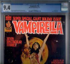 PRIMO:  VAMPIRELLA #58 NM 9.4 CGC 1977 high grade Warren magazine