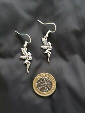 Silver Peter Pan Tinkerbell Style Fairy Earrings Birthday Party Girls Gift